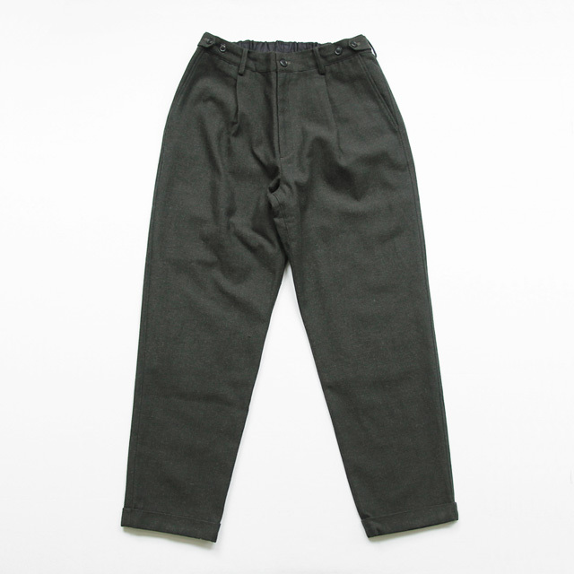 comm. arch. / Wo Co Herringbone Trousers - Deep Forest