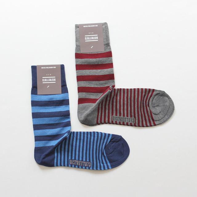 DISTRETTO73 / Cotton Socks - Mix Border