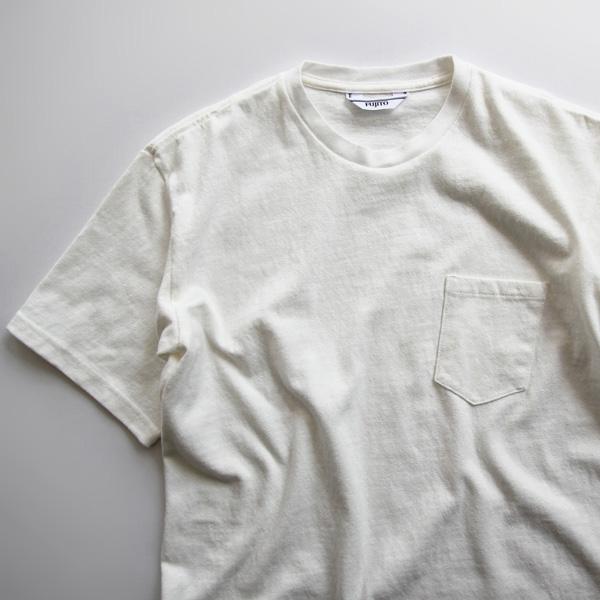 FUJITO / Crew Neck Pocket Tee - White
