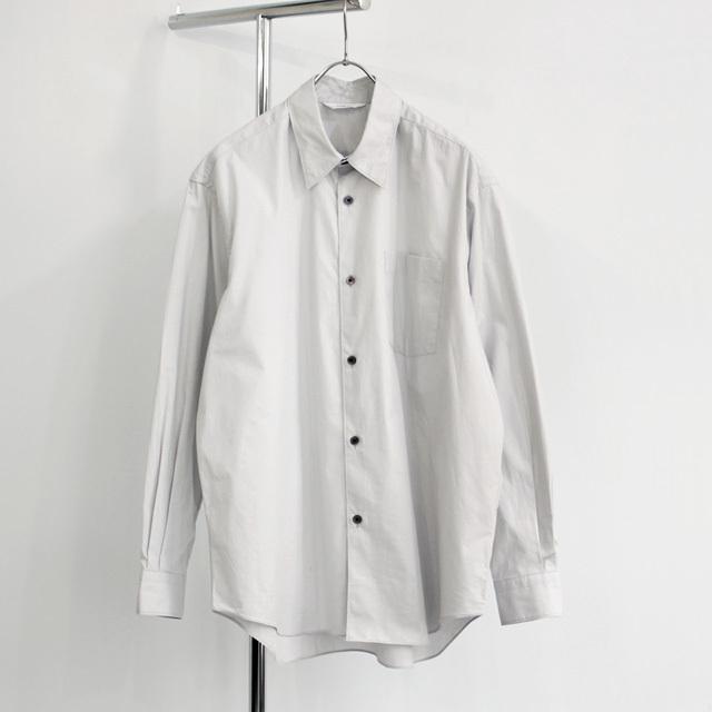 FUJITO / Big Silhouette Shirt - Silver Grey