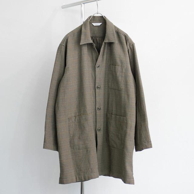 FUJITO / Shirt Coat - Khaki Grey Check