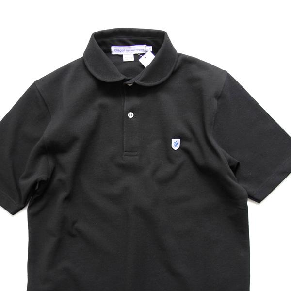 Glacon / Round Collar Polo Shirt - Black