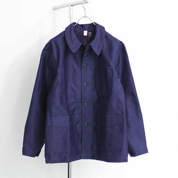 Le Travailleur Gallice / Moleskin Work Jacket - Navy