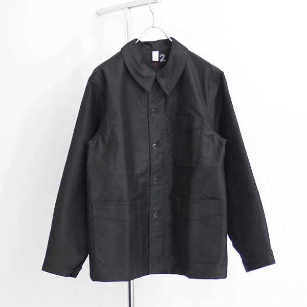 Le Travailleur Gallice / Moleskin Work Jacket - Black