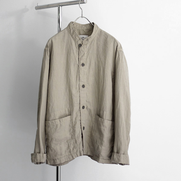HARROW TOWN STORES / Stand Collar Coverall - Linen/Beige