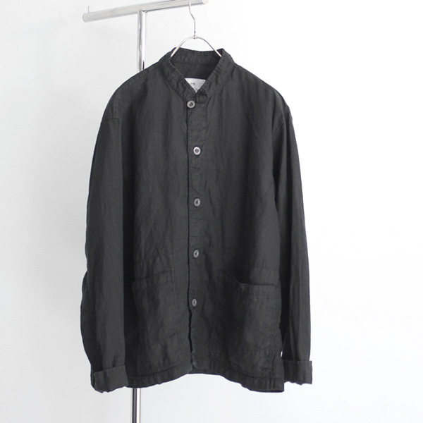 HARROW TOWN STORES / Stand Collar Coverall - Linen/Black