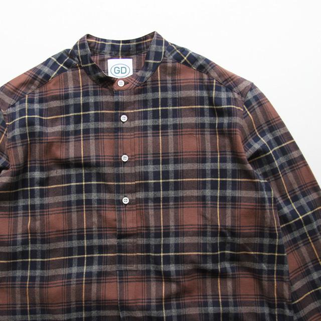 GD by James Mortimer / Grandad Shirt - Brown Check