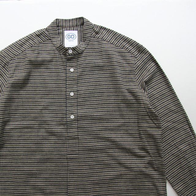 GD by James Mortimer / Grandad Shirt - Khaki Check
