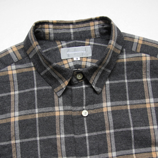 Montmorency / Basic Shirt - Brushed Twill - Grey Check