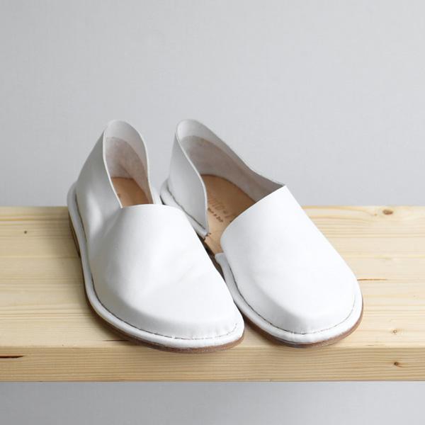 <30% OFF> Punto Pigro / Inside Open Leather Slipon - Off White