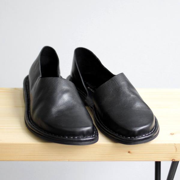 <30% OFF> Punto Pigro / Inside Open Leather Slipon - Black