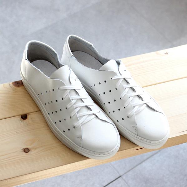 PESCADOR / Leather Sneaker - White