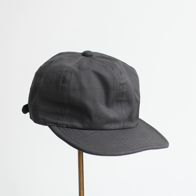 The Skilled Workers / Cotton BB Cap - Black Glen Check