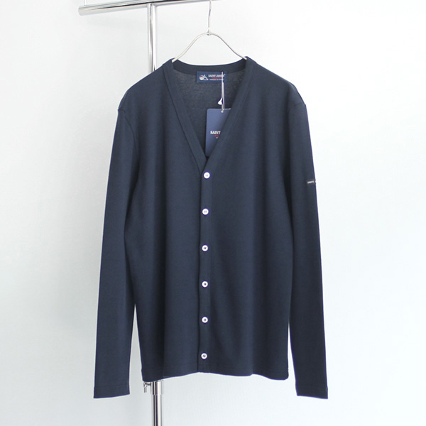SAINT JAMES / Cotton Cardigan - Navy
