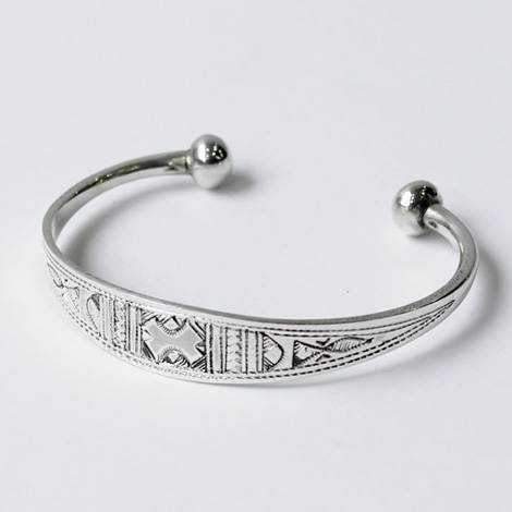 Touareg Silver / Silver Bangle