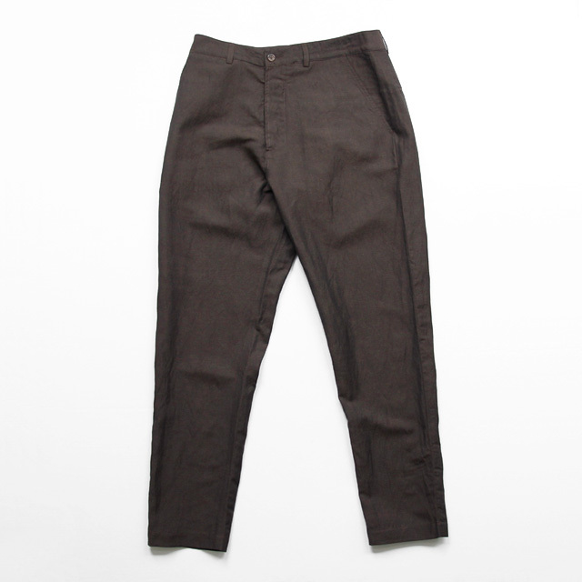 Universal Works / Military Chino - Linen Mix Suiting/Dk.Brown