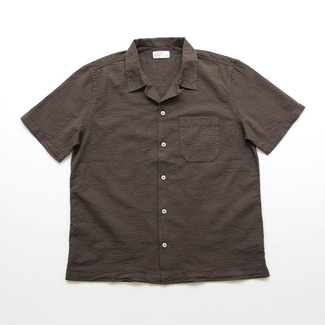 Universal Works / Road Shirt - Seersucker/Brown