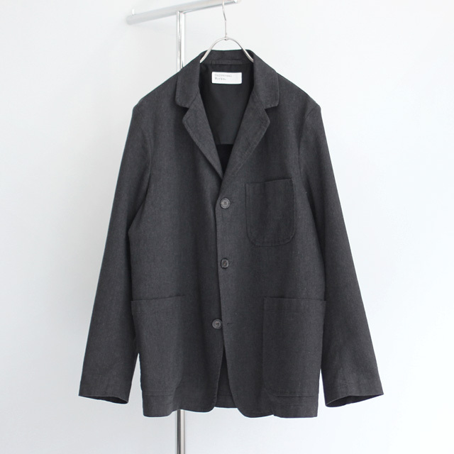 Universal Works / Three Button Jacket - Cotton Marl Charcoal