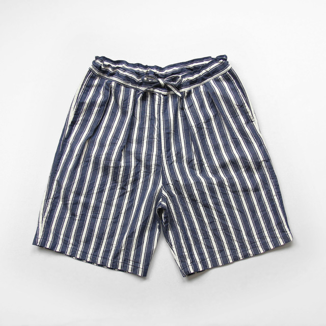 Yarmo / 2 Tuck Shorts - Denim Stripe