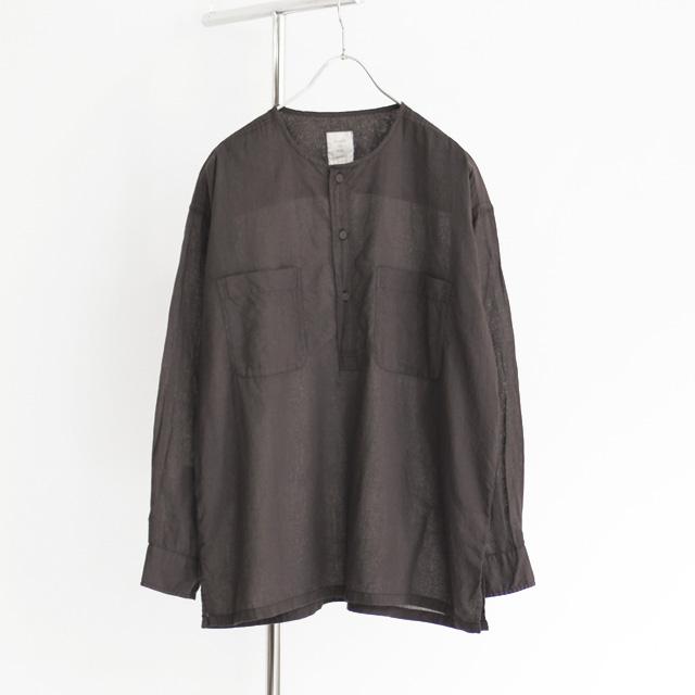 maison de soil / Kahdi Pullover Shirt - Black
