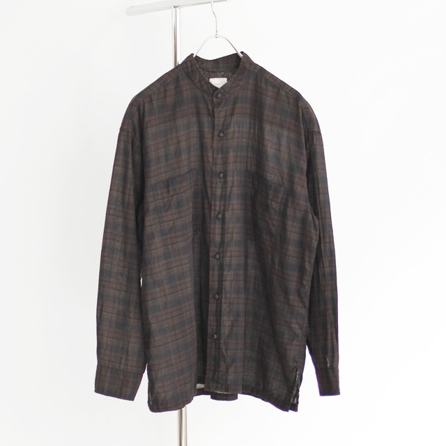 maison de soil / Overdyed Madras Shirt Jacket