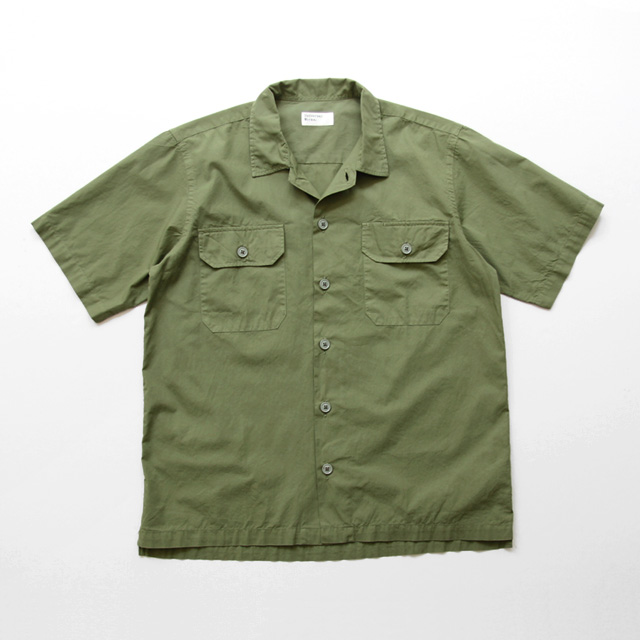 Universal Works / Utility SS Shirt - Cotton Poplin/Olive