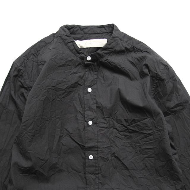 Vas-y Lentement / Band Collar Shirt - Black