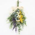 ミモザ&ラベンダーのスワッグリース(アーティフィシャルフラワー、造花) 【送料無料】