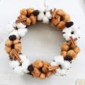 綿の実 クリスマスリース ドライフラワー 玄関【送料無料】