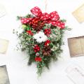 お洒落な クリスマス スワッグリース レッド系 玄関【送料無料】