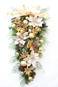 大きなクリスマスリース スワッグリース 玄関飾り 特大サイズ