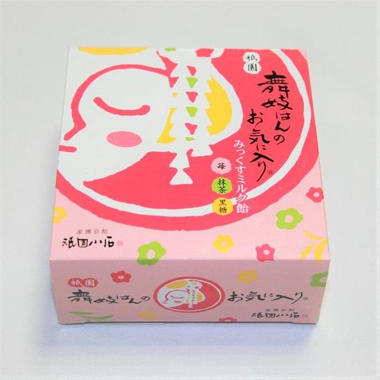 【祇園本店・京都駅 限定品】舞妓はんのお気に入りみっくすミルク飴