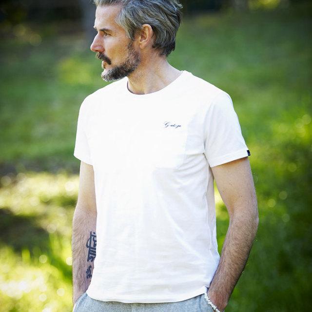 WEB限定SALE G-stage(ジーステージ) オリジナルロゴバックプリントTシャツ ホワイト ブラック 161561