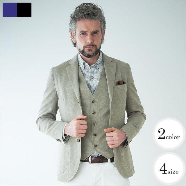 WEB限定SALE商品  g-stageイタリア製ジャガード織り3つボタンジャケット 340290