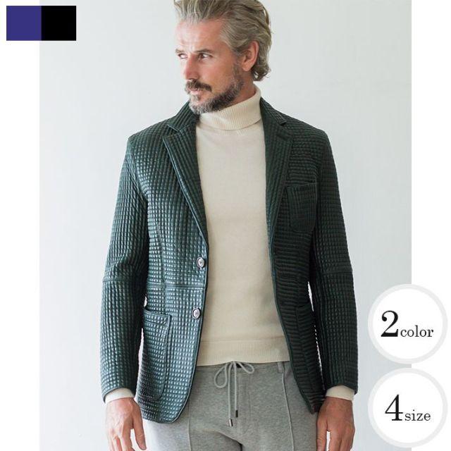 SALE 在庫限り 羊革レザージャケットグレインレザーキルティングシープ 羊革  461252 G-stage(ジーステージ)[メンズスタイルはレザーが似合う]