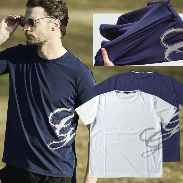 Tシャツ 半袖 クルーネック ジャージ ストレッチ ゴルフ 511506 G-stage ジーステージ