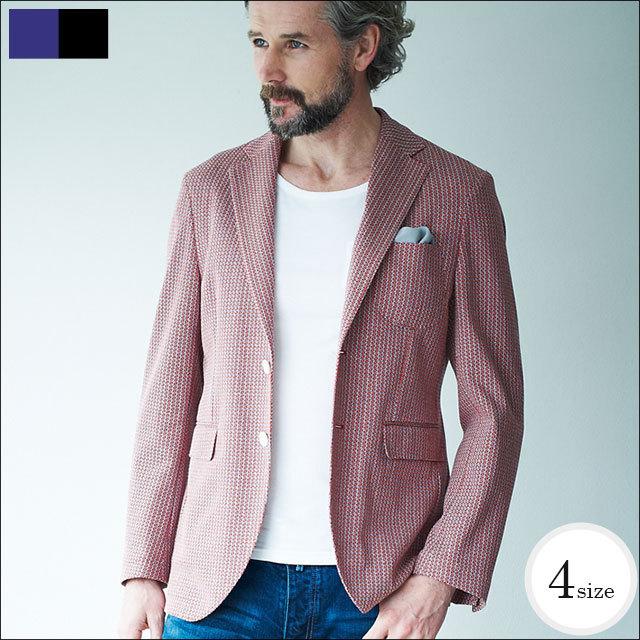 G-stage(ジーステージ) イタリア製 イギリス王室御用達 ドンディー社製生地の小紋柄コットンジャガードジャケット