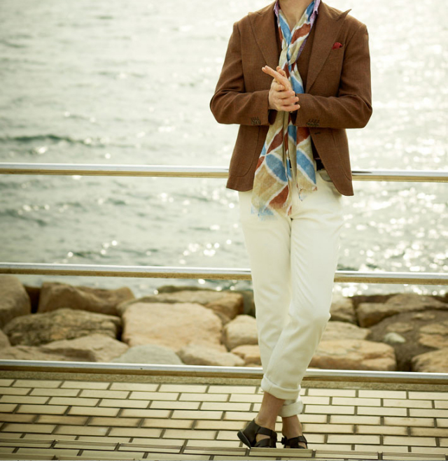 [TIME SALE]g-stage綿ストレッチホワイトデニムテーパードパンツ 550573ジーステージ