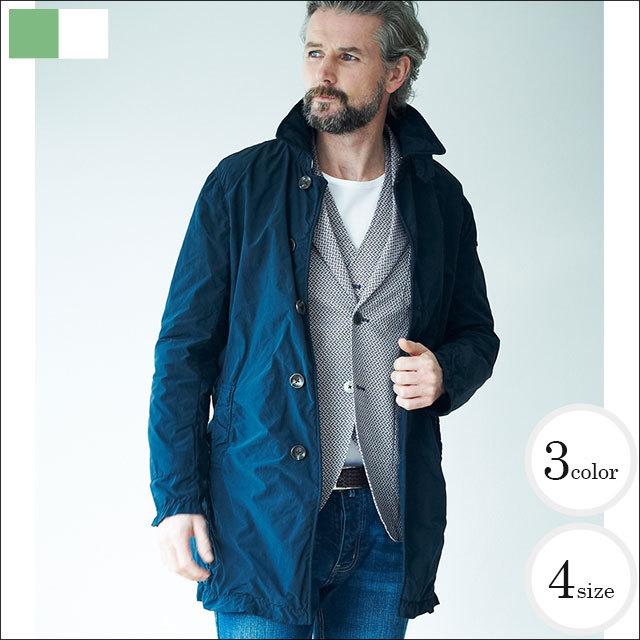 Credimi(クレディミ) 小松製錬製のテクノヴィンテージ生地シングルコート 全3色(ベージュ・ネイビー・レッド) 550830