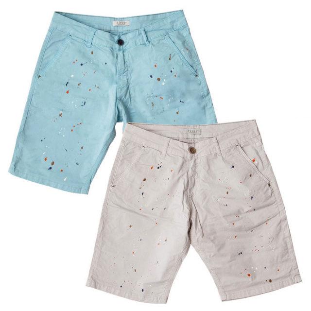 SALE イタリア製 ペイントプリントコットンハーフパンツ パンツ ハーフパンツ ショーツ メンズ 春夏 綿 40代 メンズスタイル B40401E7 fiver(ファイバー)