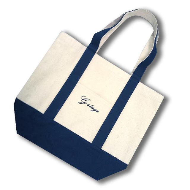 ポケット付 ツートーン キャンバストートバッグ トートバッグ 手提げ鞄 鞄 オフホワイト l10903 G-stage ジーステージ
