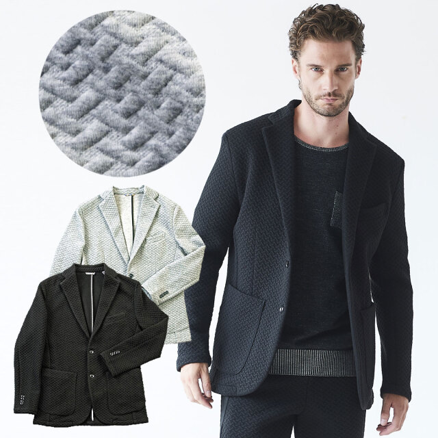 【予約販売8月末出荷予定】3Dキルトジャガードジャケット l60206 G-stage ジーステージ