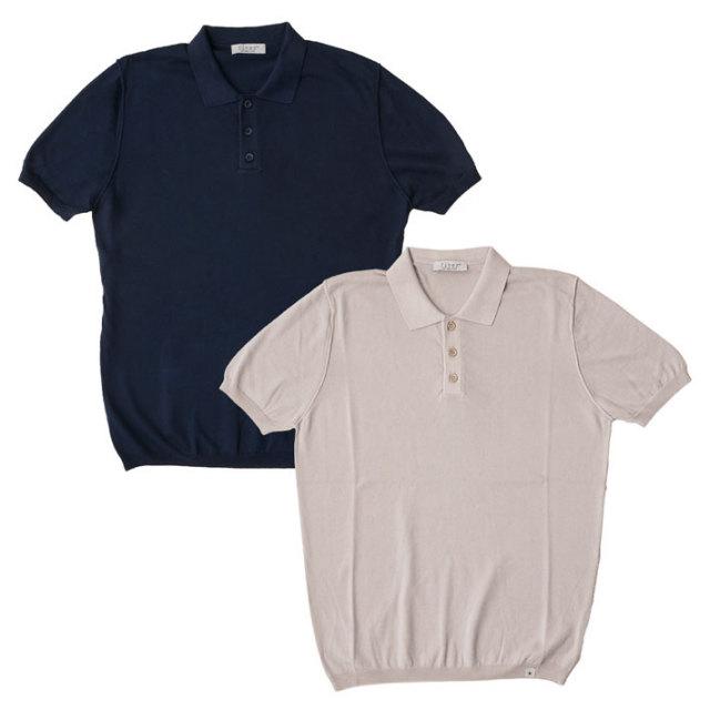 SALE イタリア製サマーニットコットン半袖ポロ ポロシャツ メンズ サマーニット 綿 40代 メンズスタイル M70432E7 fiver(ファイバー)