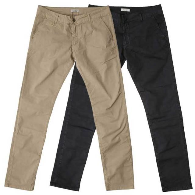 SALE イタリア製ストレッチコットンパンツ パンツ メンズ 綿 ストレッチ ベージュ ブラック P10400E7 fiver(ファイバー)