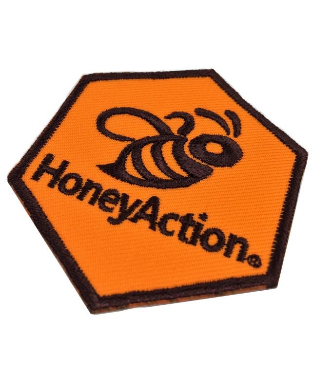 ★新商品★【ハニーアクション】 HoneyAction ワッペン 2枚入り (アイロンで張り付け可能です)