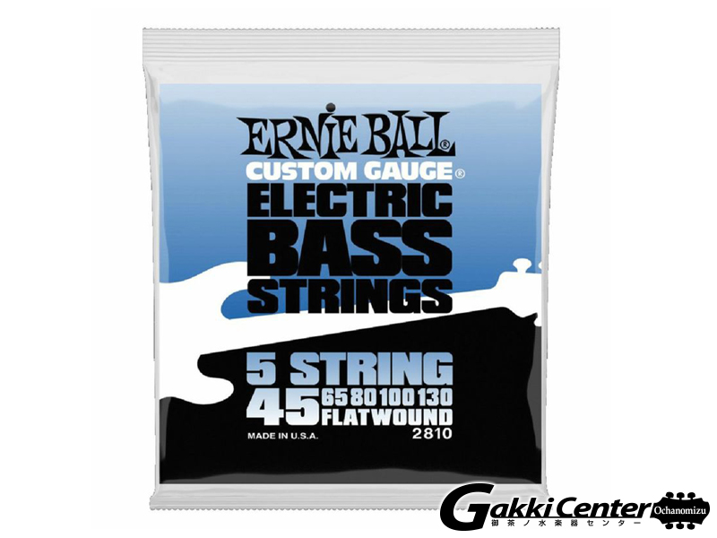 Ernie Ball Flatwound 5-String Electric Bass 45-130[#2810]