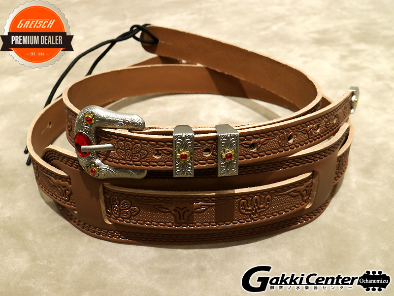 Gretsch Tooled Straps Russt(Natural)