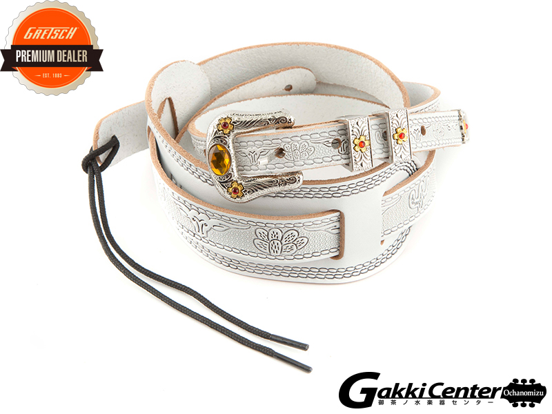 Gretsch Tooled Straps White