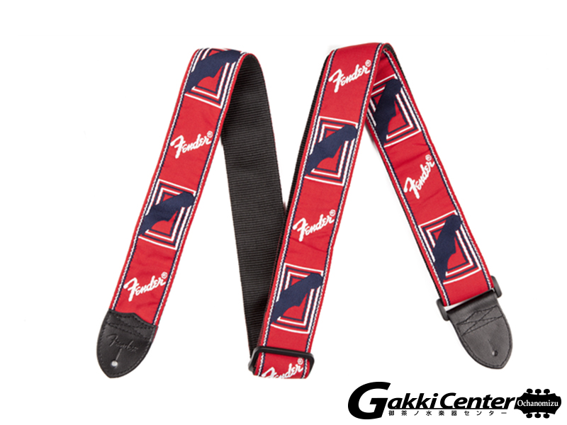 "Fender 2"" Monogrammed Straps Red/White/Blue"
