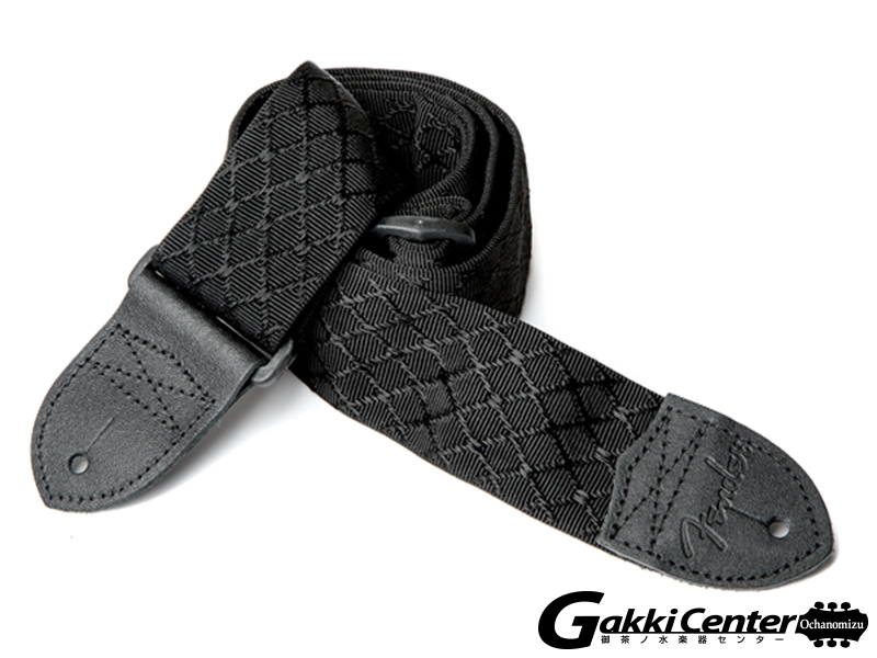 "Fender 2"" Nylon Jacquard Straps Black Satin Diamond"